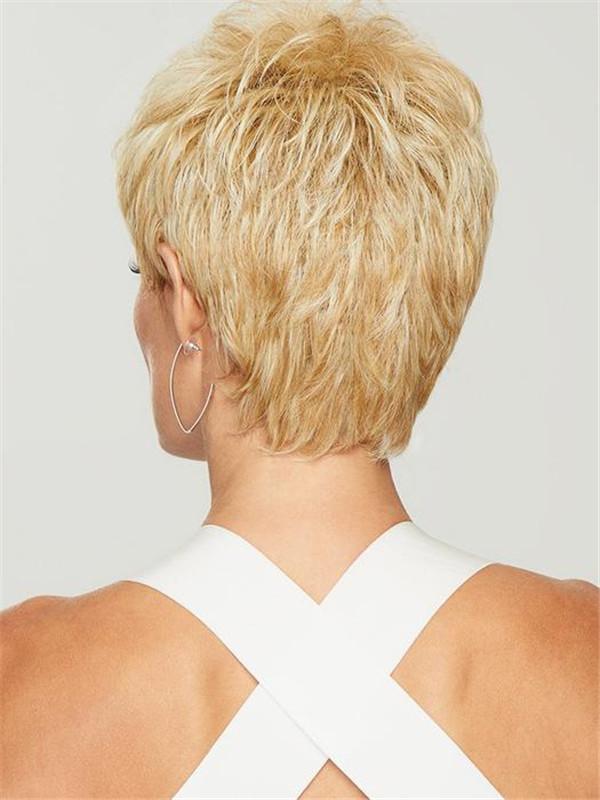 Short Straight Brunette Hf Synthetic Wig Basic Cap