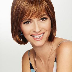 Mid-length Short Hf Synthetic Wig Basic Cap