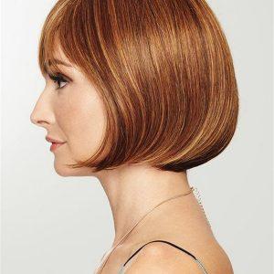 Mid-length Short Hf Synthetic Wig Basic Cap