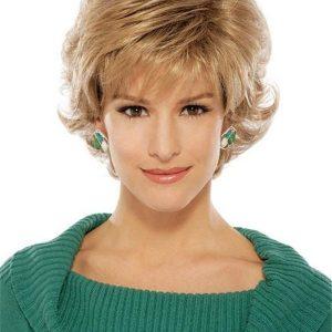 Short Brunette Synthetic Wig Basic Cap For Women