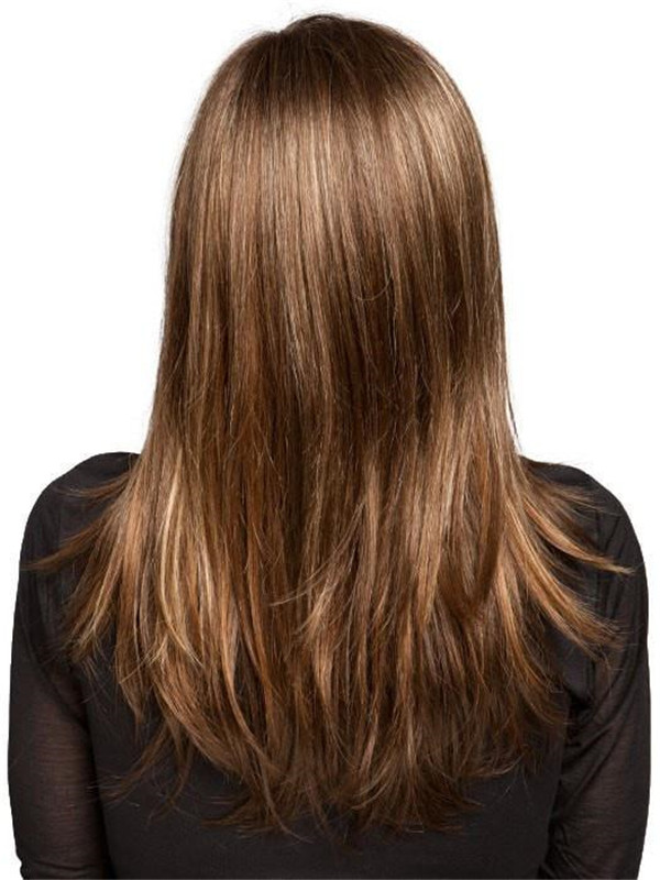 Long Straight Synthetic Lace Front Wig Mono Top