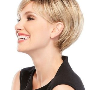 Women's Short Rooted Synthetic Wig Basic Cap