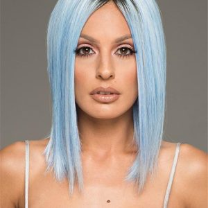 Mid-length Short Hf Synthetic Wig Basic Cap For Women