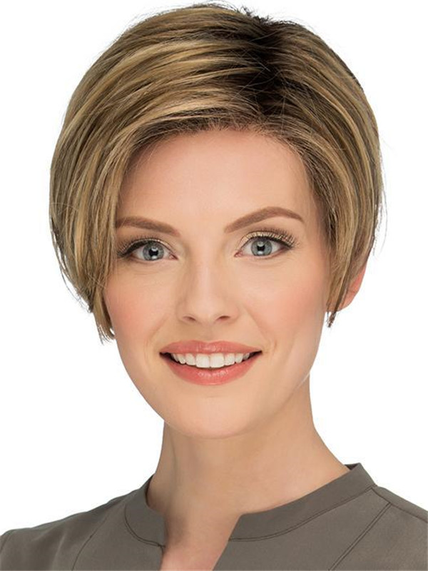 Straight New Arrivals Pixie Synthetic Lace Front Wig