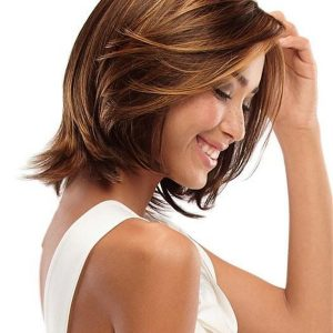 Straight Synthetic Lace Front Wig Mono Top By Rooted