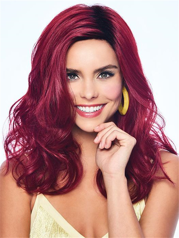 Mid-Length HF Synthetic Wig Basic Cap For Women