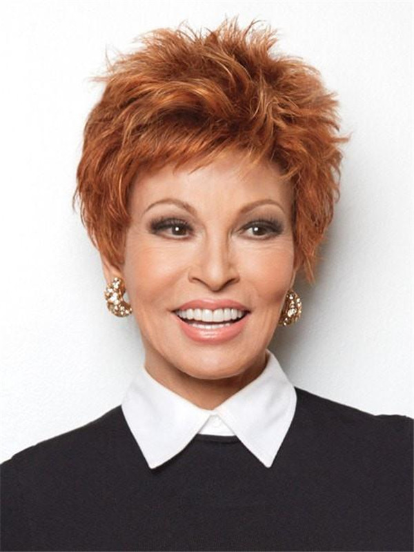Short Straight Pixie Synthetic Wig Basic Cap For Women