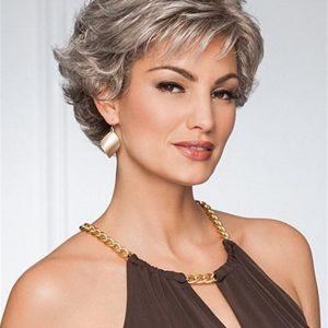 Short Brunette Wavy Synthetic Wig Basic Cap For Women