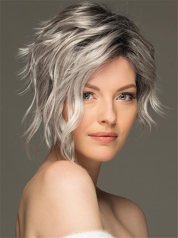 Women's Short Wavy Synthetic Lace Front Wig By Estetica