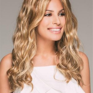 Women's Long Wavy Synthetic Lace Front Wig Hand-tied