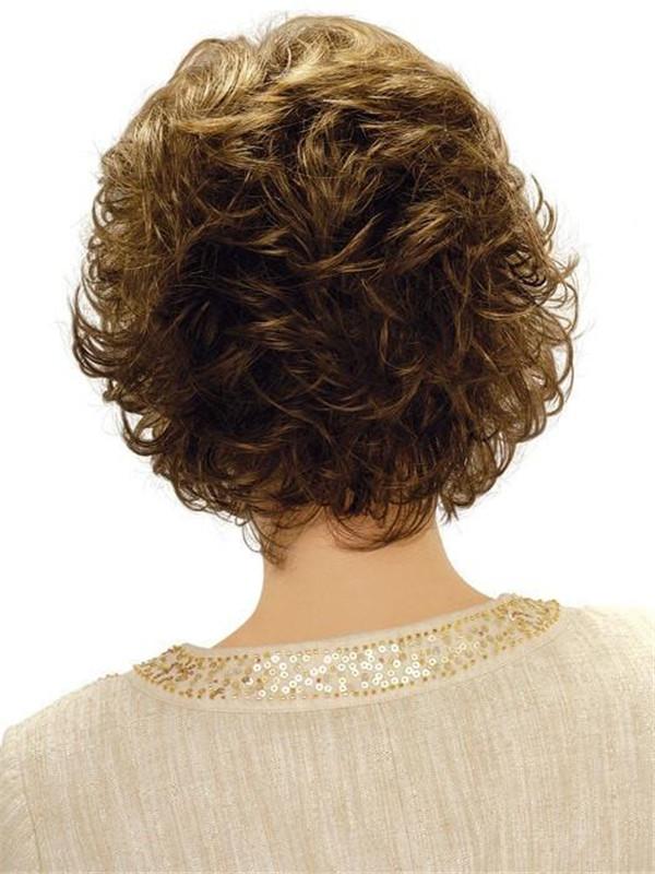 Straight Synthetic Brunette Wig Basic Cap For Women