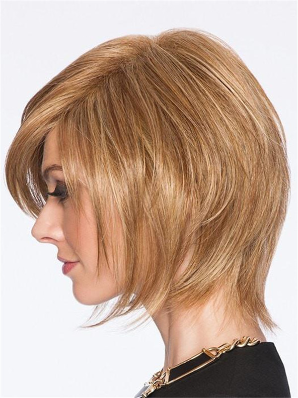Straight Mid-length Hf Synthetic Wig Basic Cap For Women