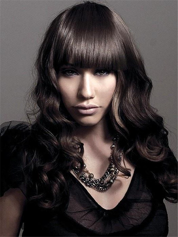 All Hairpieces Sleek Finish Clip In Synthetic Bang