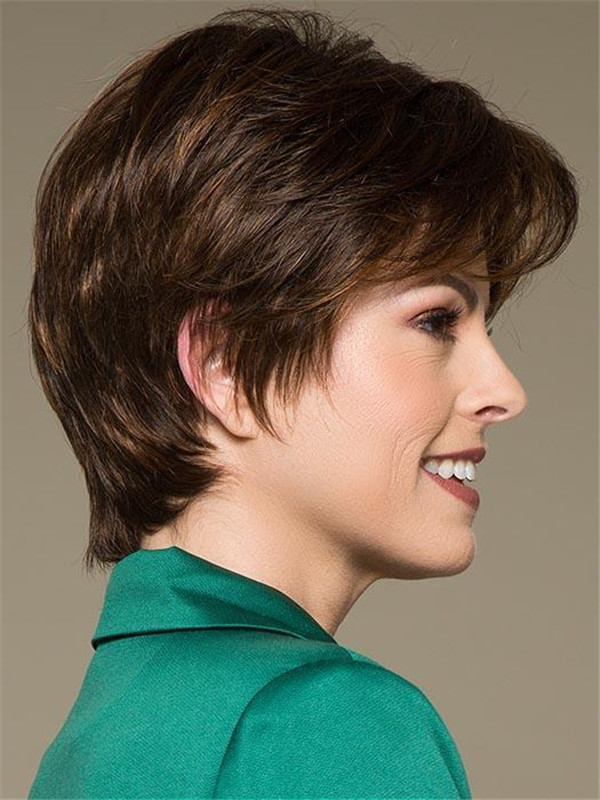 Short Straight New Arrival Synthetic Lace Front Wig For Women
