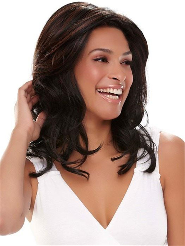 Wavy Hf Synthetic Lace Front Wig Hand-tied