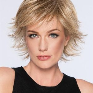 Straight Short Hf Synthetic Wig Basic Cap For Women