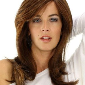 Long Straight Hf Synthetic Lace Front Wig Mono Top For Women