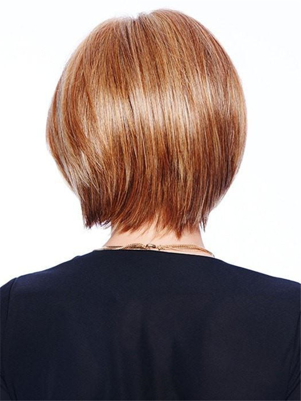 Short Mid-Length Straight HF Synthetic Lace Front Wig Mono Top