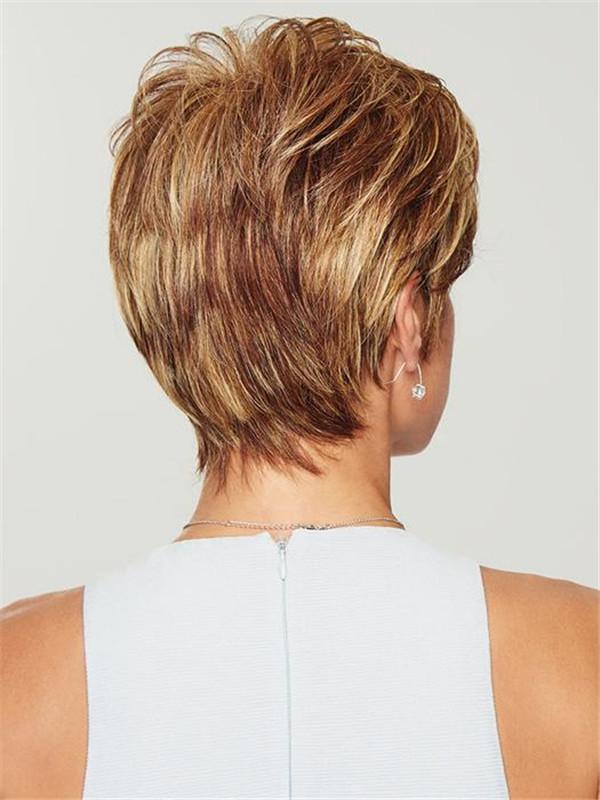 Straight Short Brunette HF Synthetic Wig Basic Cap For Women