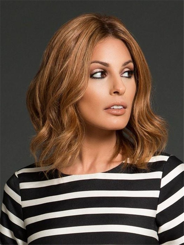 Straight Wavy Remy Human Hair Lace Front Wig Hand-tied