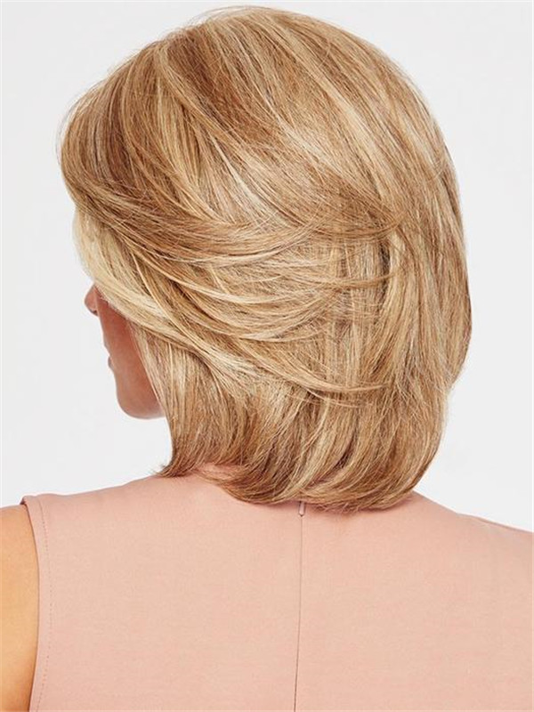 Straight Brunette Synthetic Lace Front Wig Hand-tied For Women