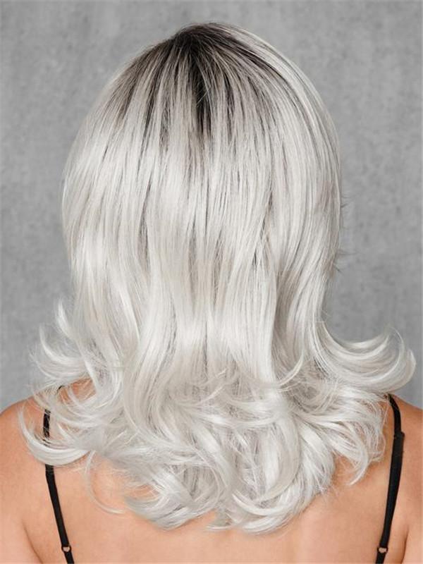 Mid-Length Long Whiteout HF Synthetic Wig Basic Cap