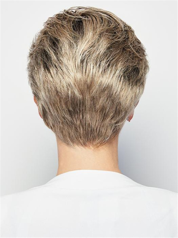 Straight Pixie Synthetic Lace Front Wig Hand-tied For Women