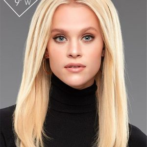"""Easipieces 12"""" L X 9"""" Human Hair Rooted New Arrivals"""