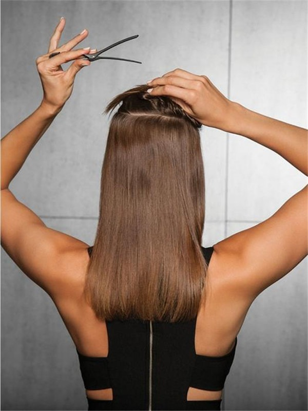 """16"""" Straight HF Synthetic Hair Extensions Kit"""