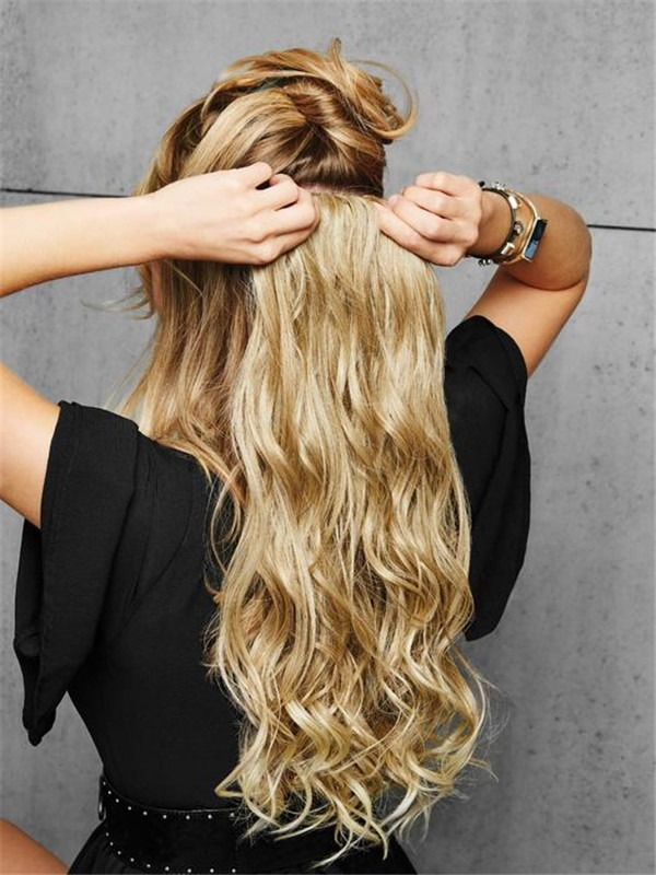 """22"""" Curly HF Synthetic Clip In Extension"""