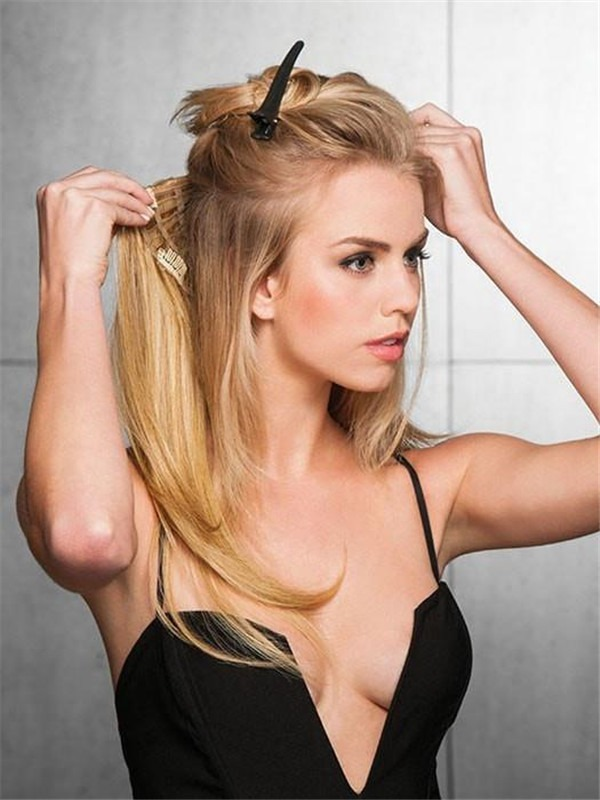 """22"""" Straight HF Synthetic Hair Extension"""