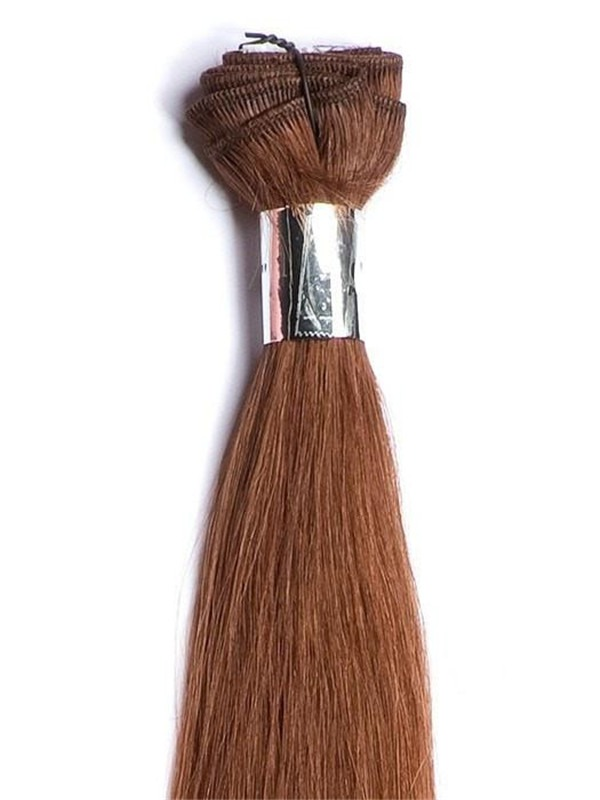 """32"""" Italian Straight Human Hair Extensions Wefted"""