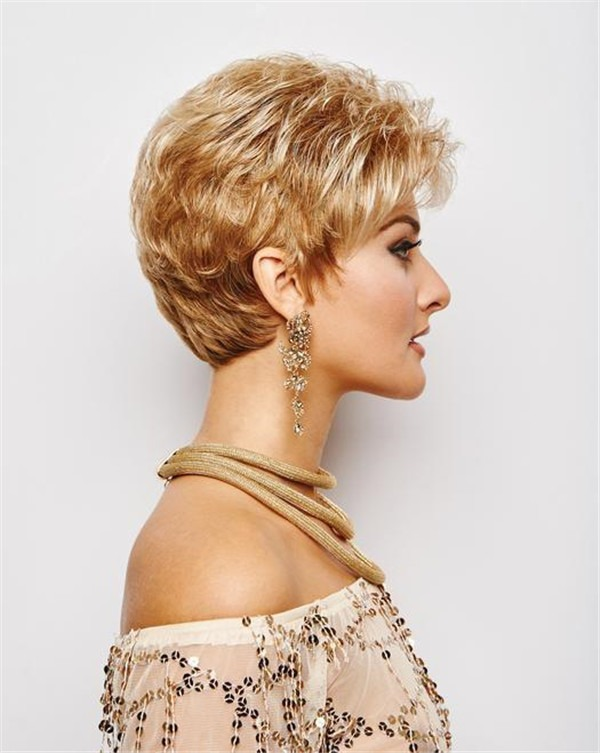 Short Curly Wavy Synthetic Wig Basic Cap For Women