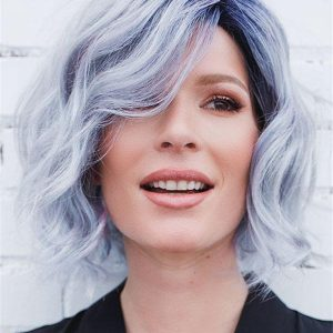Short Curly Synthetic Lace Front Wig For Women