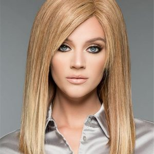 Long Straight Human Hair Wig Hand-tied For Women