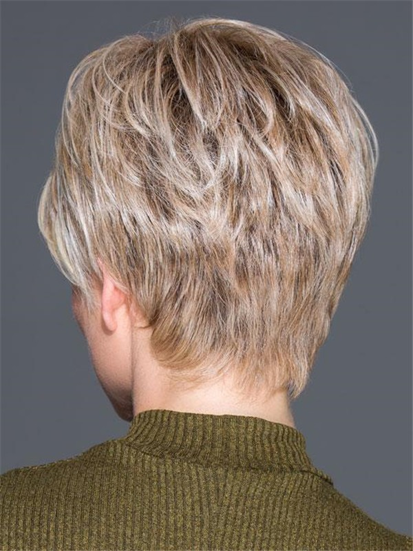 Short Straight Hf Synthetic Lace Front Wig For Women