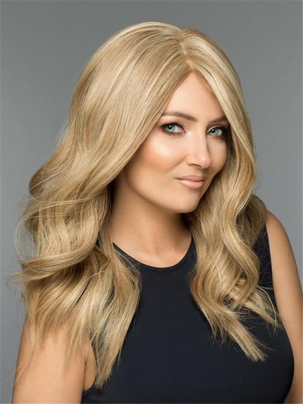 Long Straight 100% Human Hair Wig Hand-tied For Women