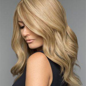 Long Human Hair Wig Mono Top For Women