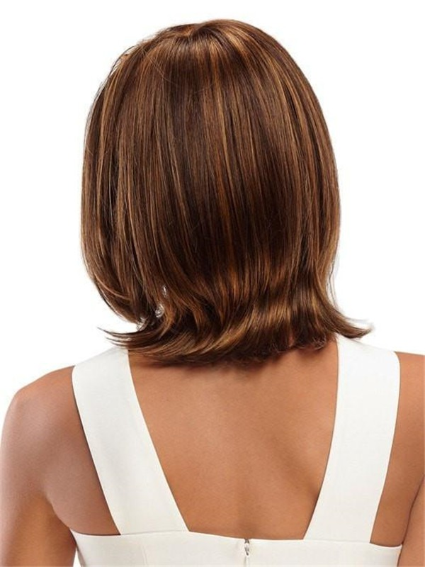 Mid-length Synthetic Lace Front Wig Mono Top For Women