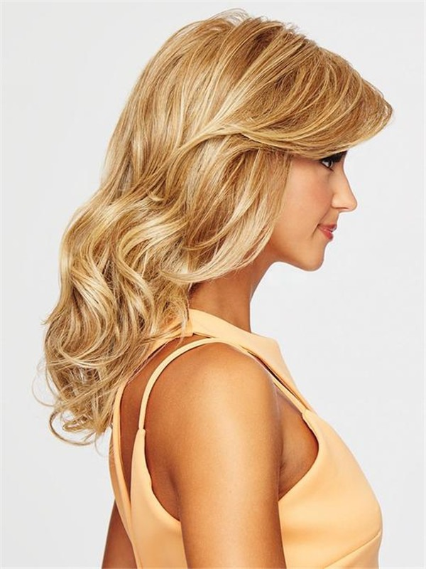 Curly Hf Synthetic Wig Basic Cap For Women