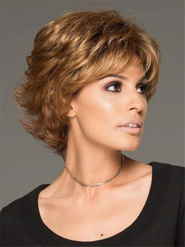 Short Straight Alyssa Synthetic Wig Basic Cap For Women
