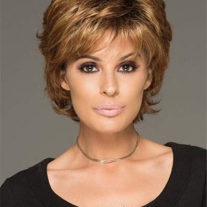 Short Straight Alyssa Synthetic Wig Basic Cap For Women