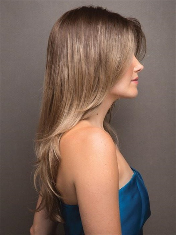 Long Straight Synthetic Wig Basic Cap For Women
