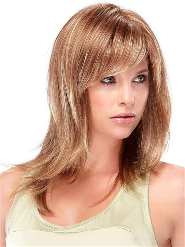 Straight Angelique Large Synthetic Wig Basic Cap For Women