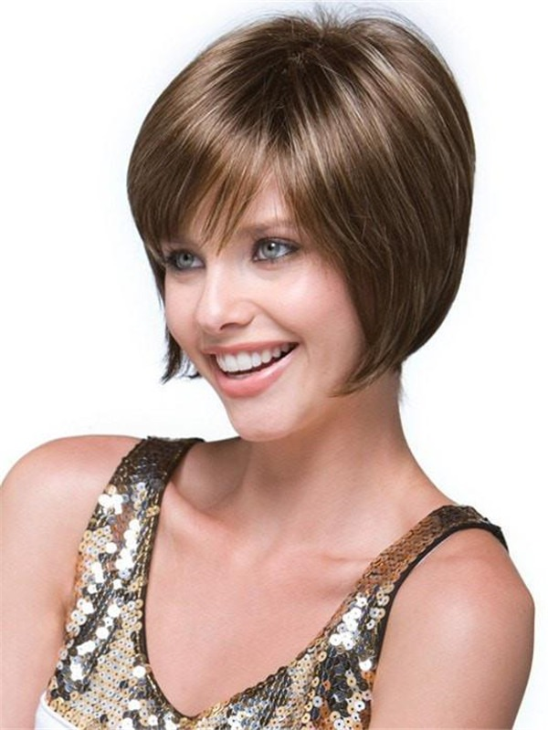 Short Audrey Synthetic Wig Basic Cap Rooted For Women