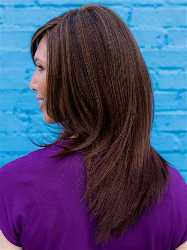 Long Lace Front Human Hair Synthetic Blend Wig For Women