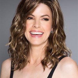 Rooted Layered Synthetic Lace Front Wig For Women