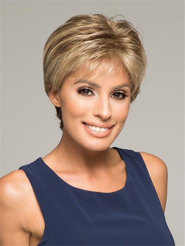 Short Wavy Synthetic Lace Front Wig Hand-tied For Women