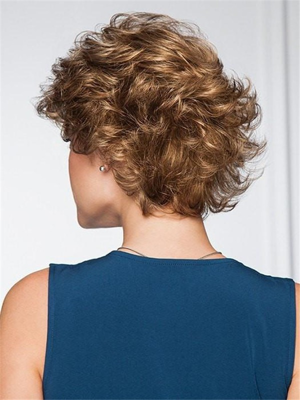 Short Curly Belle Synthetic Wig Basic Cap For Women