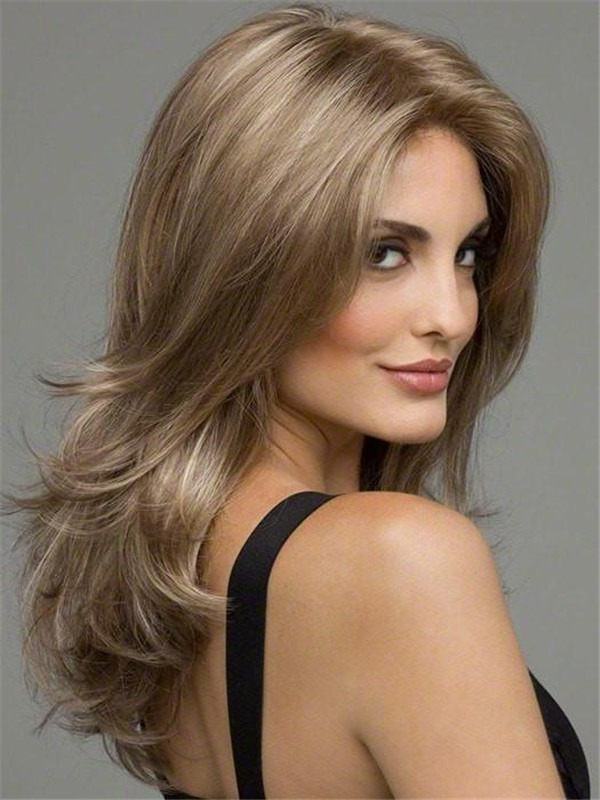 Long Synthetic Lace Front Wig Mono Top For Women